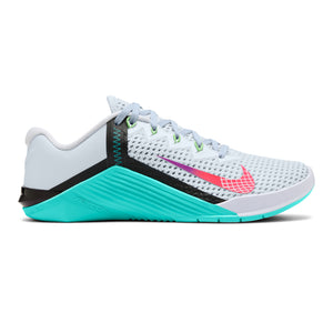 Women's Nike Metcon 6 , women, nike, metcon, 6, crossfit, gym, workout, training, shoe, color, style, White, Flash Crimson, Hyper Jade, Hyper Violet, Olympic, Tokyo