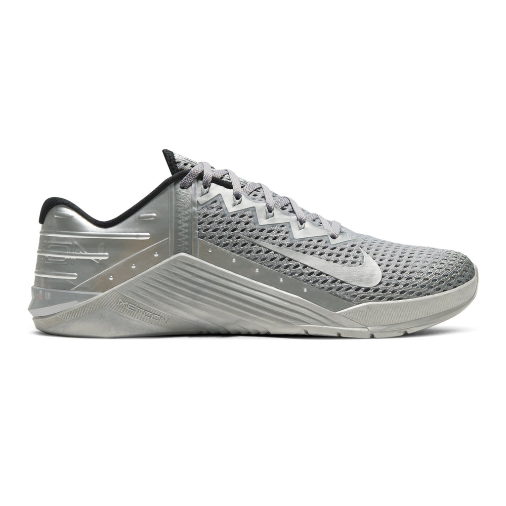 Nike Metcon 6 PRM, PRM, Premium, nike. metcon, crossfit, gym, workout, training, shoe, new, color, style, metallic, silver,