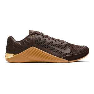 Nike Metcon 6 PRM, PRM, Premium, nike. metcon, crossfit, gym, workout, training, shoe, new, color, style, brown, gum, metallic, gold, wheat