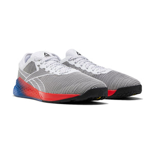 Load image into Gallery viewer, Men's Reebok CrossFit Nano 9 Fade, men, reebok, crossfit, nano, 9, fade, gym, workout, training, shoe, new color, style, grey, red, white, blue
