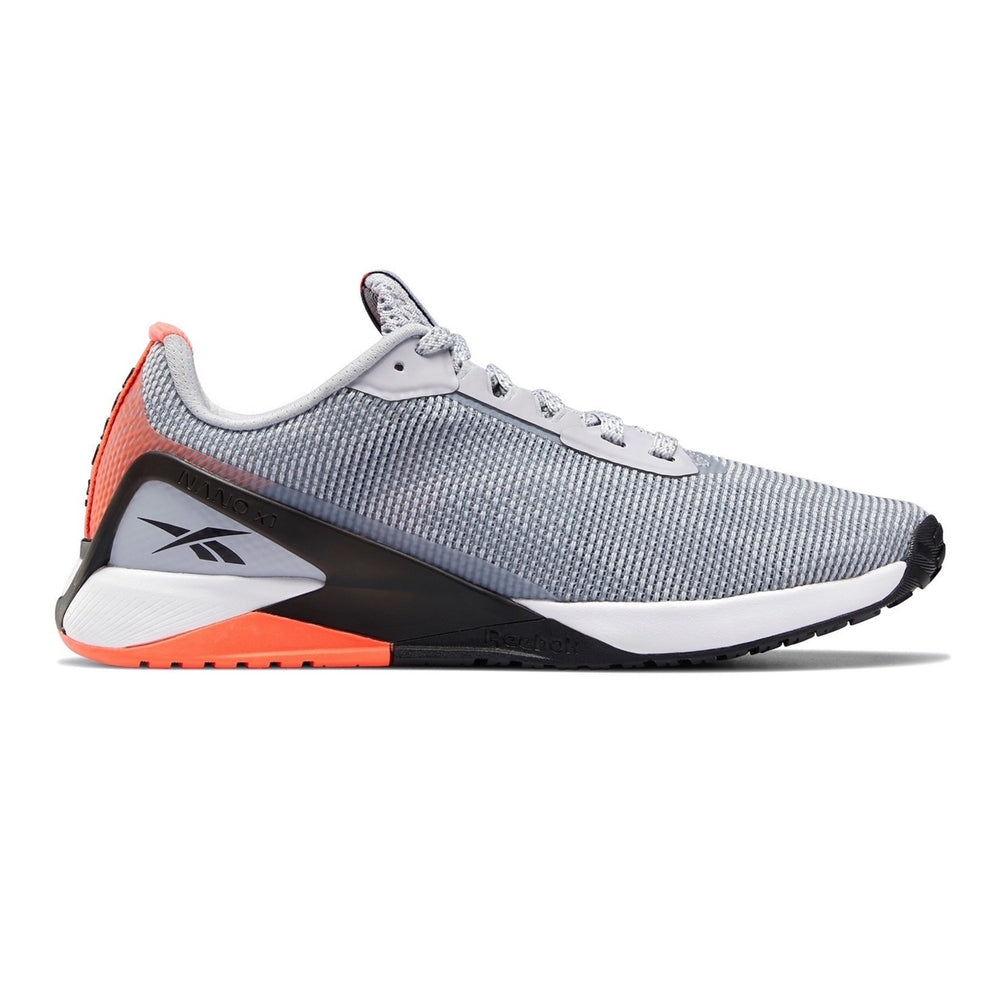 Women's Reebok Nano X1 GRIT, women, reebok, nano, x1, GRIT, crossfit, gym, workout, gym, training, new, shoe, style, color, grey, orange, white
