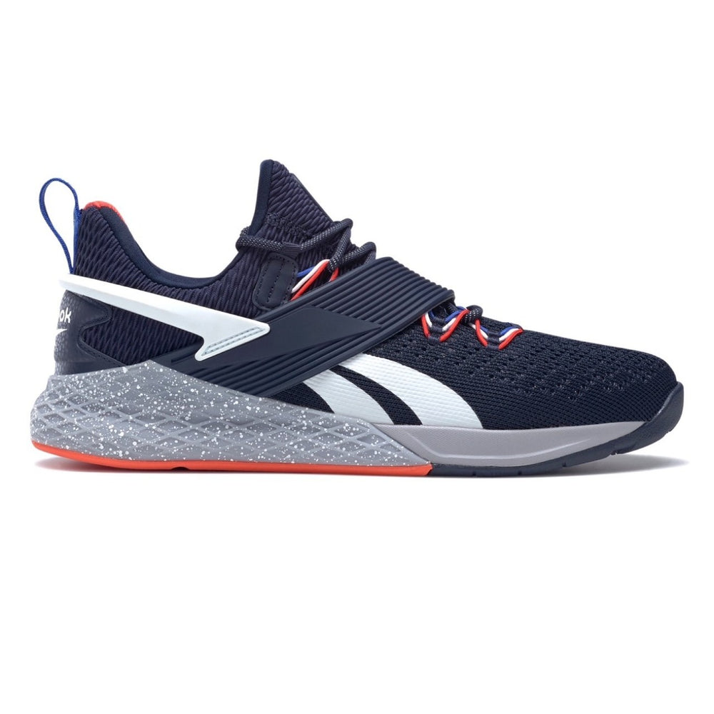 Reebok Nano X Froning, men, women, reebok, crossfit, nano, x, gym, workout, training, shoe, new, color, rich, froning, special, limited, edition, navy blue, white, orange, grey