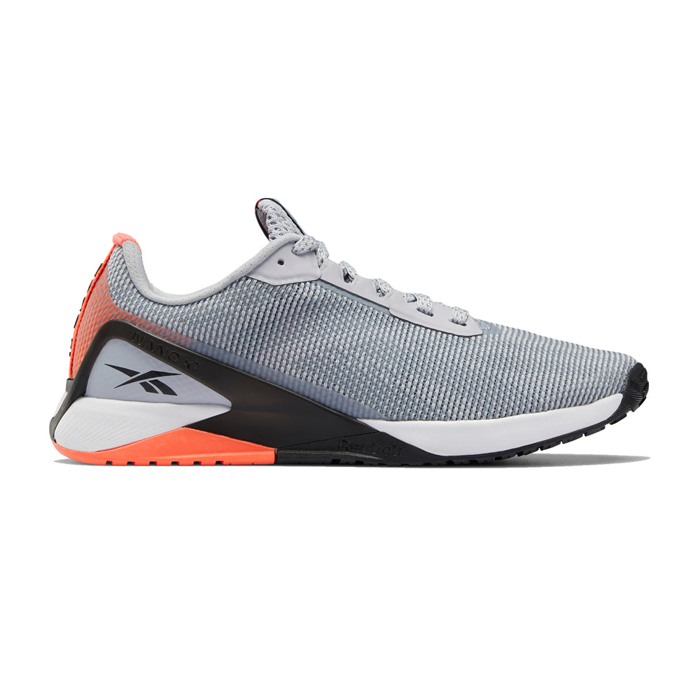 Men's Reebok Nano X1 GRIT, men, reebok, nano, x1, GRIT, crossfit, gym, workout, gym, training, new, shoe, style, color, grey, orange, white
