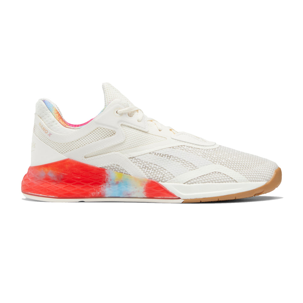 Reebok Nano X Pride, pride, men, women, reebok, crossfit, nano, x, gym, workout, training, shoe, new, color, chalk, white, rainbow, gum, sole, special, limited, edition