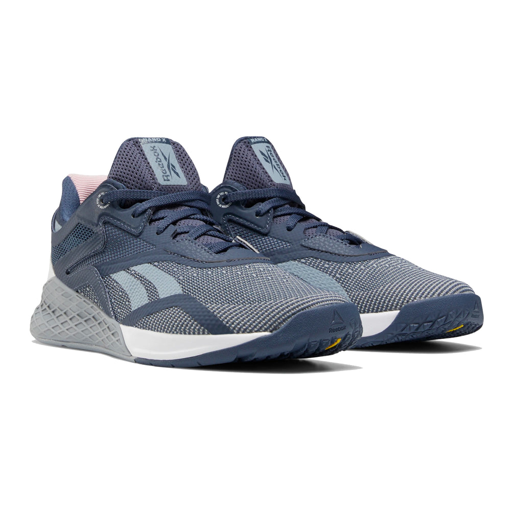 Women's Reebok Nano X, women, reebok, crossfit, nano, x, gym, workout, training, shoe, new, color, grey, indigo, white, blue