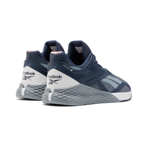Load image into Gallery viewer, Women's Reebok Nano X, women, reebok, crossfit, nano, x, gym, workout, training, shoe, new, color, grey, indigo, white, blue