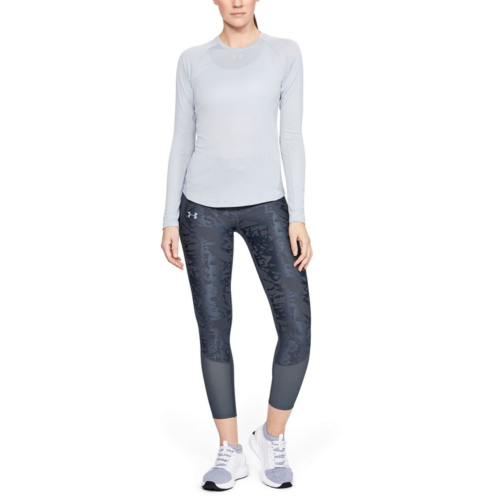 Women's Under Armour Qualifier Speedpocket Smudged Crop