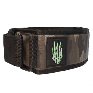 "Bear KompleX ""APEX"" Premium Leather Velcro Weight Lifting Belt - Camo"