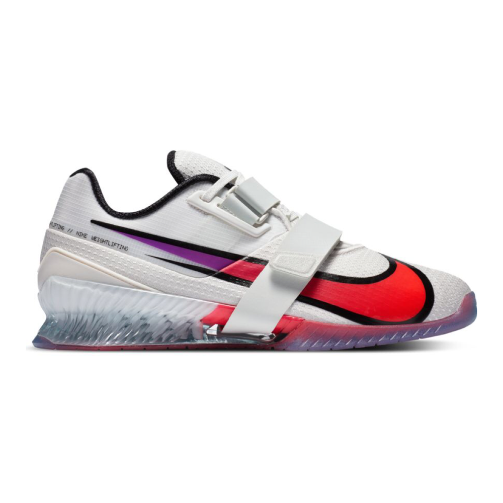 Load image into Gallery viewer, Nike Romaleos 4 SE, nike romaleos 4, crossfit, weightlifting, shoe, nike, romaleos, 4, special, limited, edition, new, color, white, purple, pink, red, blue, pale ivory, hyper violet, crimson
