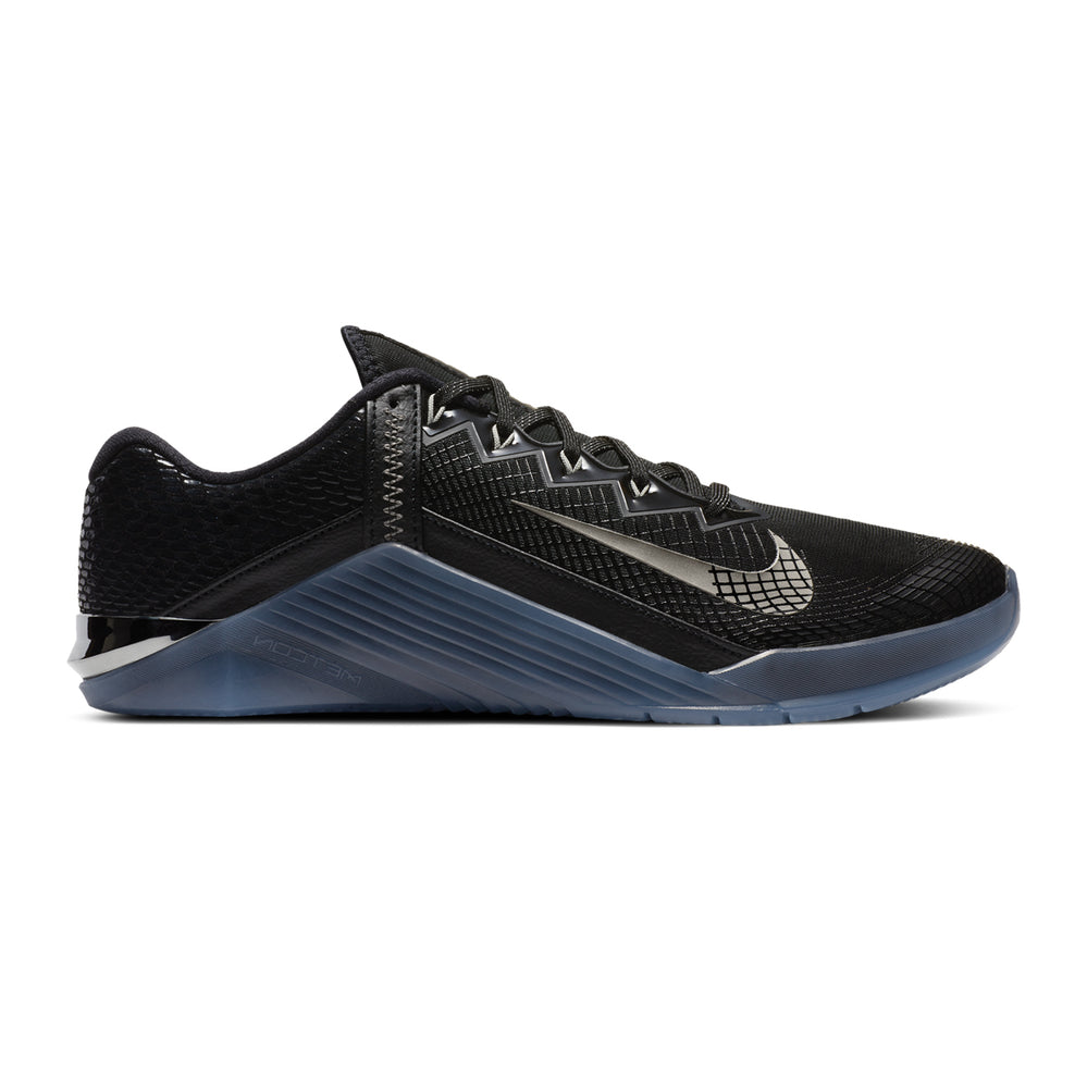 Men's Nike Metcon 6 AMP, Luxe Edition, men, nike, metcon, 6, amp, luxe, edition, limited, special, new. color, black, blue, pewter, silver, crossfit, gym, workout, training, shoe