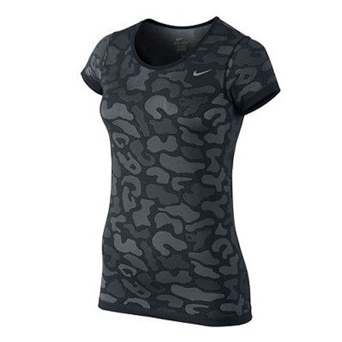 Women's Nike Dri-Fit Knit Short Sleeve Contrast Top, women's nike shirt