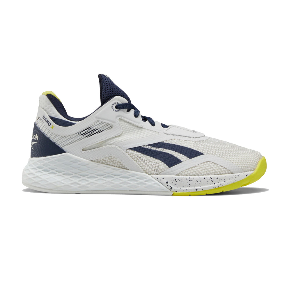Women's Reebok Nano X, women, reebok, crossfit, nano, x, gym, workout, training, shoe, new, color, white, navy, CHARTREUSE