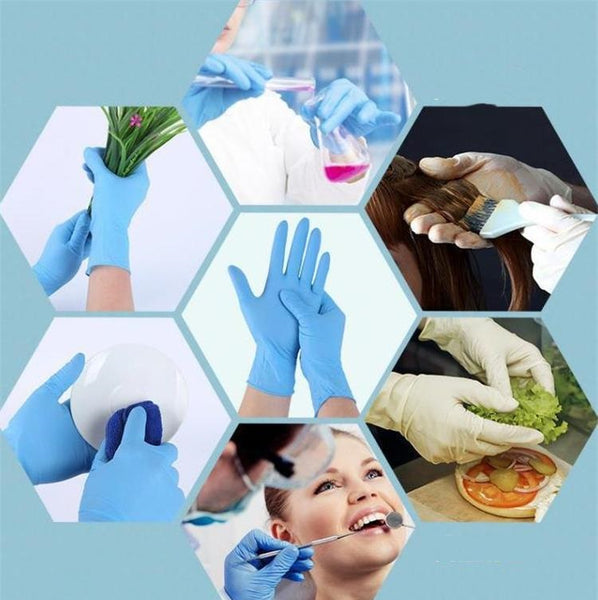 Disposable Nitrile latex gloves 3000 pack Small Medium Large Anti-skid anti-acid gloves B grade rubber glove Cleaning Gloves
