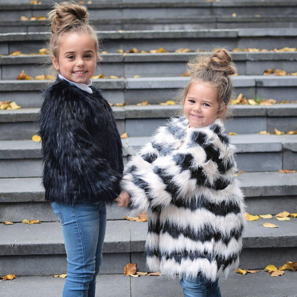 Girls Autumn Luxury Faux Fur Coats & Jackets