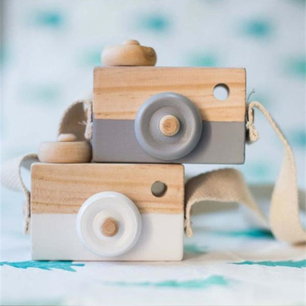 Cute Nordic Hanging Wooden Camera Toys