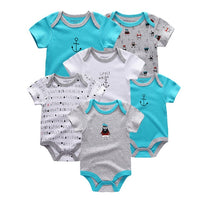 6 PCS/lot summer baby rompers