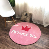 Nordic princess crown circular carpet