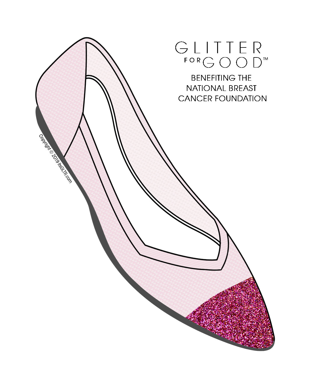 Special Edition Pink Glitter Captoe - Breast Cancer Awareness (Customization Only)