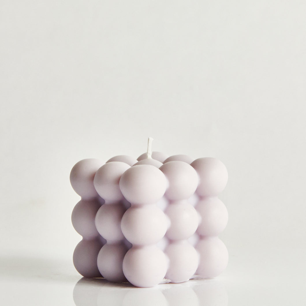 Lilac Scented Bubble Candle