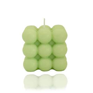 Lime & Coconut Scented Bubble Candle