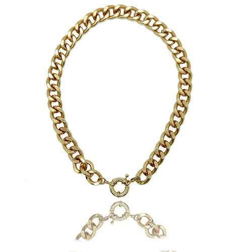 Palma Gold Chain Link Necklace