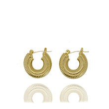 Load image into Gallery viewer, Coast Ribbed Hoop Earrings