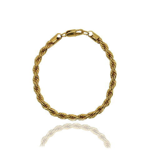 River Gold Chain Rope Bracelet