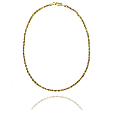 River Gold Chain Rope Necklace