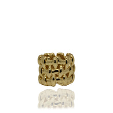 Load image into Gallery viewer, Lost Cross Knit Gold Ring