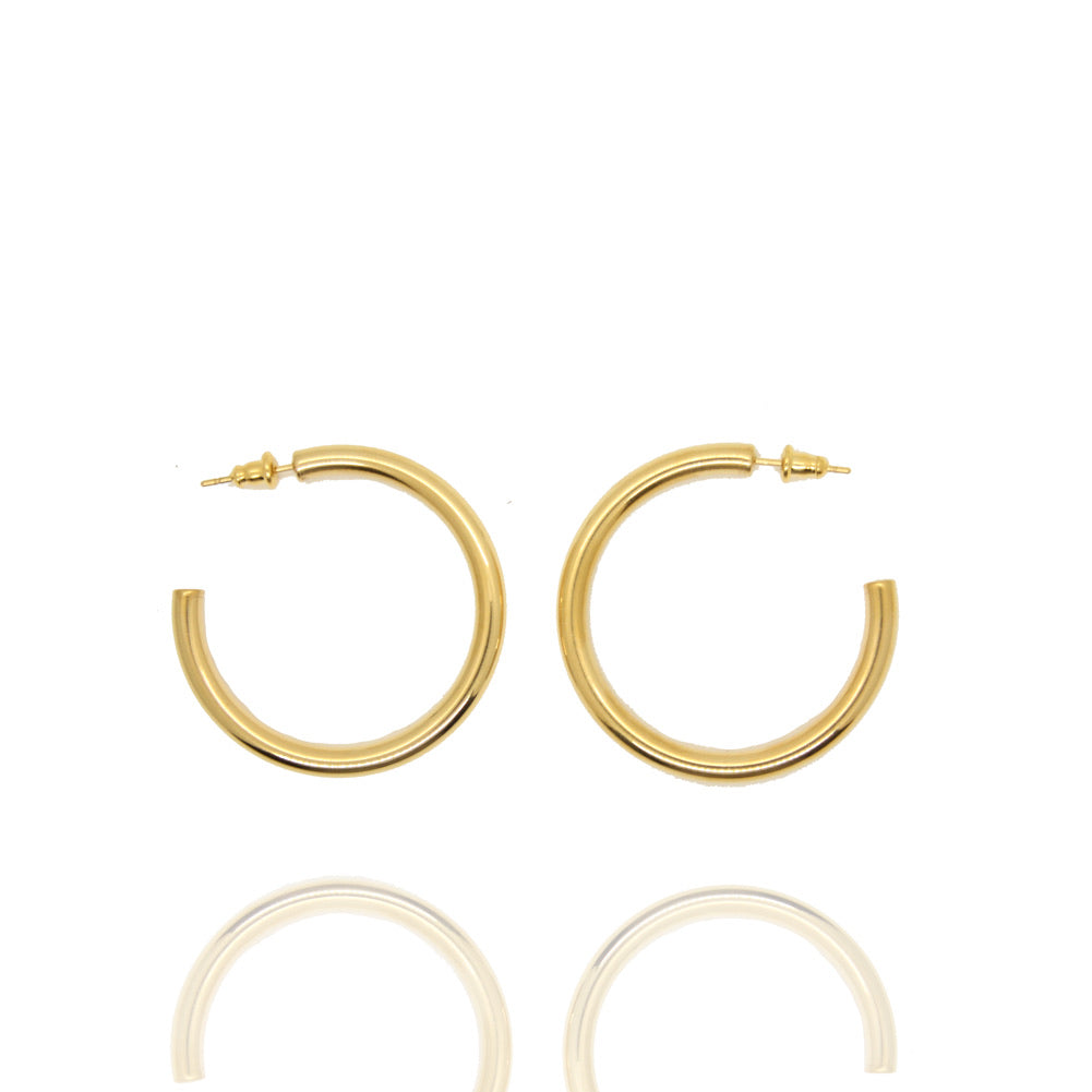 The Basics Gold Hoops