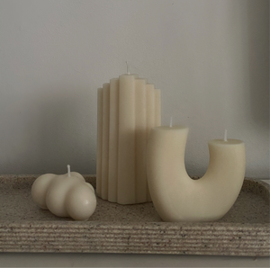 White Cloud Candle Set