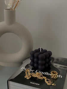 Black Scented Bubble Candle