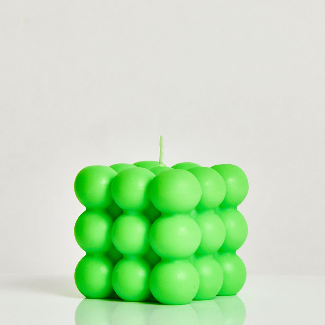 Neon Green Scented Bubble Candle