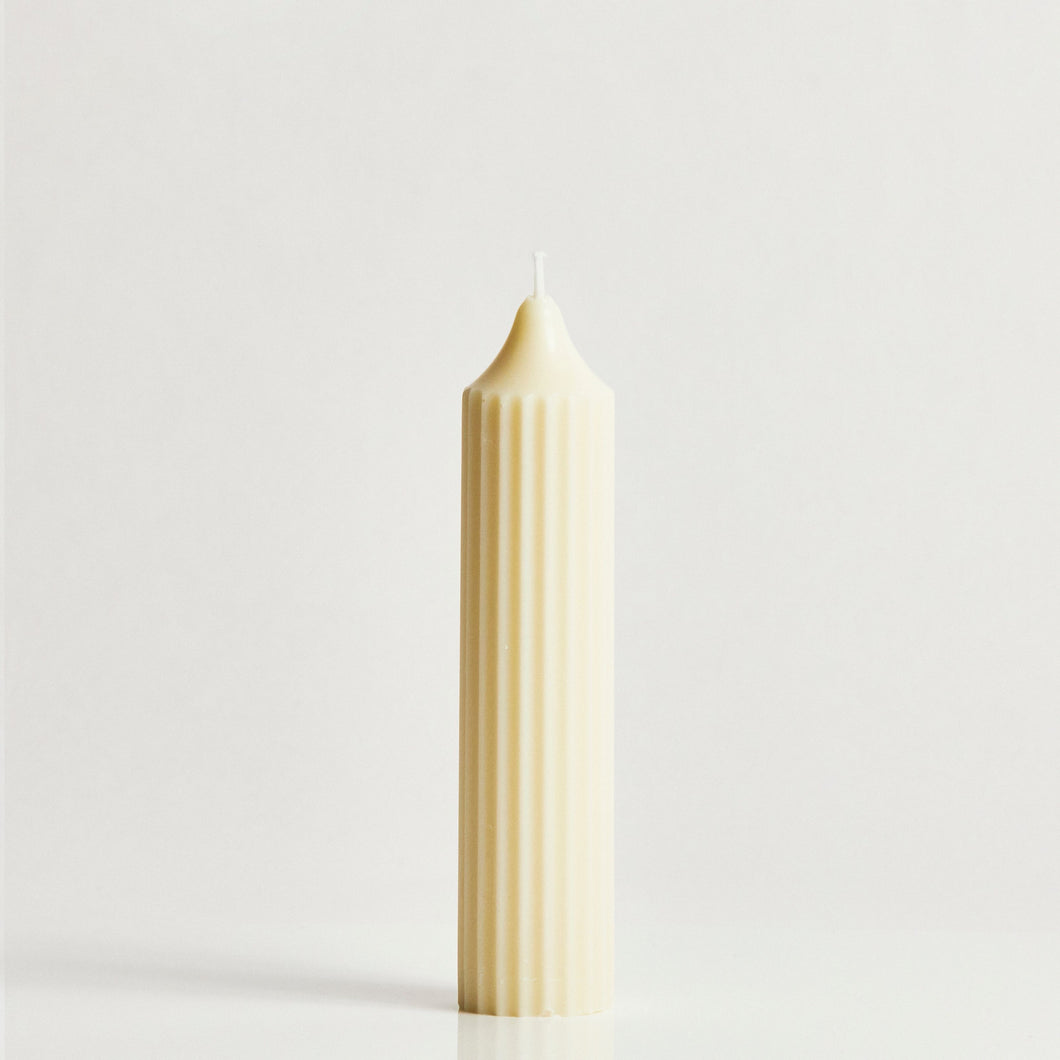 White Short Scented Pillar Candle