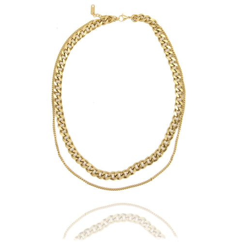 Duo Chain Gold Necklace