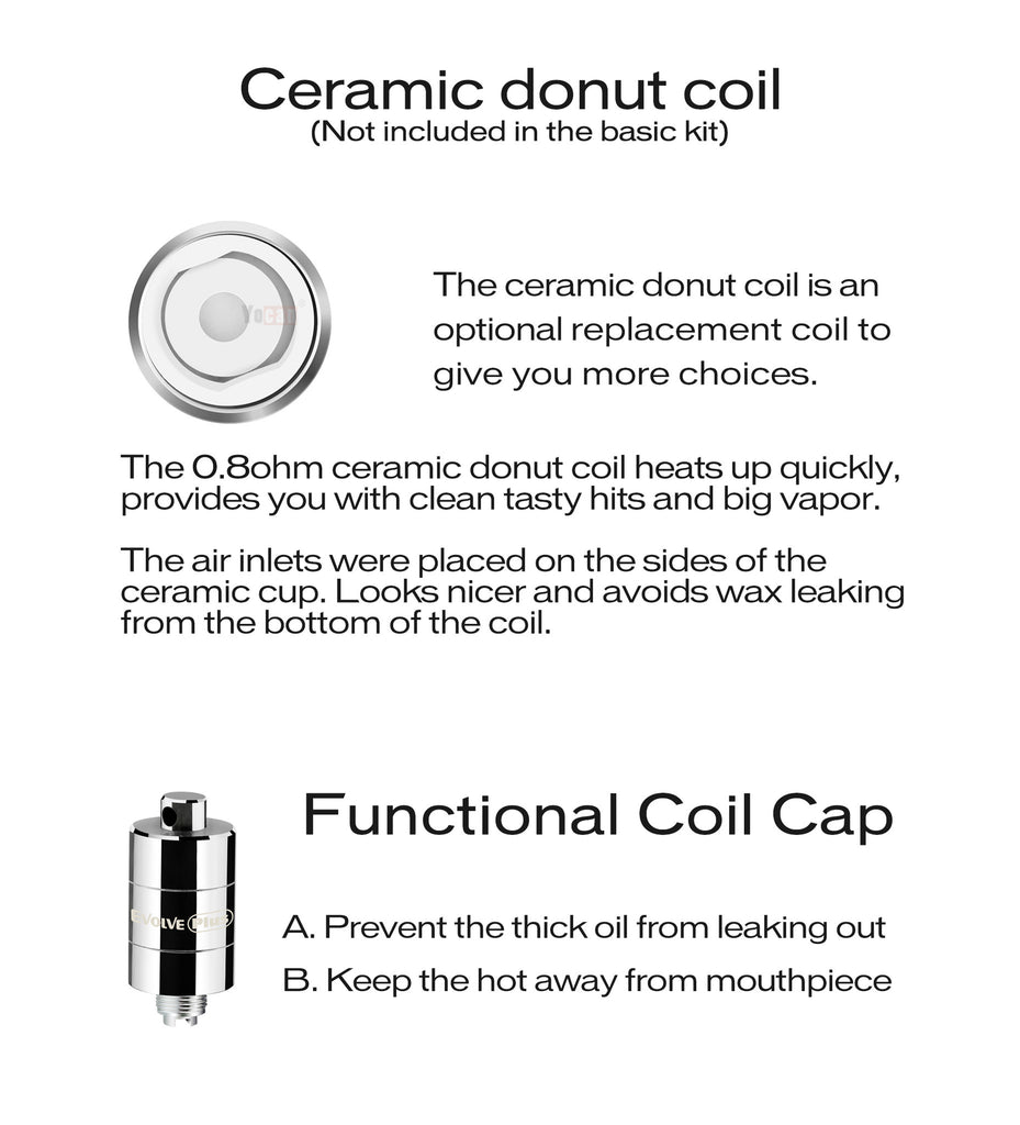 Yocan Evolve Plus Ceramic Donut
