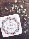 One in a Million Floral & Butterfly ... Female Relative Coaster - Mother's Day