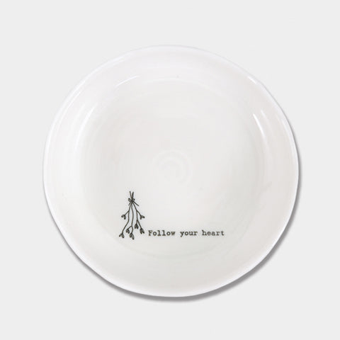 East of India Follow your heart Trinket dish