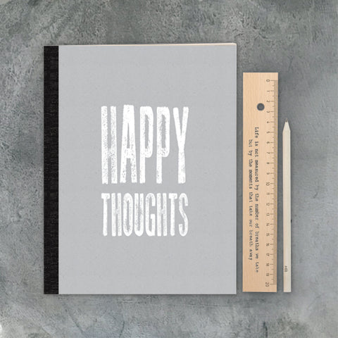 East of India Happy Thoughts Large Notebook