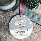 Personalised First Christmas as Mr & Mrs Signpost Ceramic Christmas Ceramic Decoration