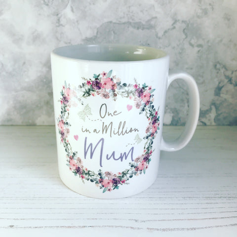 One in a Million Floral & Butterfly ... Female Relative Mug - Mother's Day