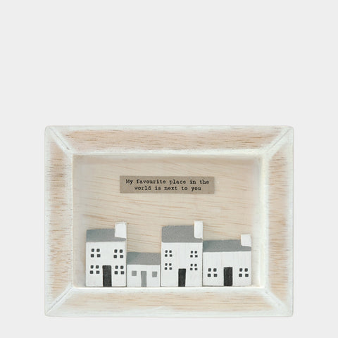East of India My Favourite Place Wooden Box Frame