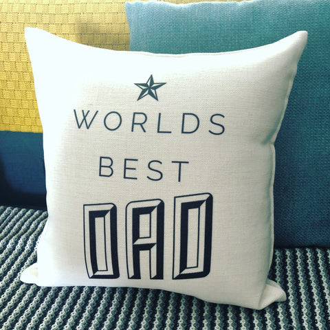 Worlds Best Star detail Cushion Father's Day