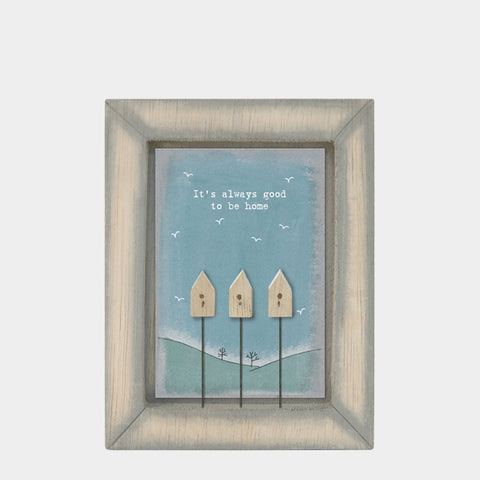 East of India It's always good to be home .. Quote Wooden Box Frame