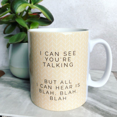 Geometric I can see you're talking ... Fun Mug