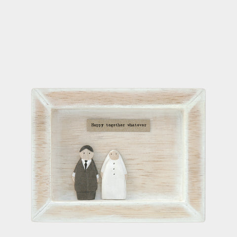 East of India Happy Together... Quote Wooden Box Frame