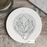 Personalised Family Botanical design Ceramic Round Coaster