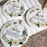 Personalised Chance made us colleagues Floral Greenery Quote Ceramic Keepsake Gift