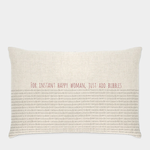 East of India For instant happy woman Cushion