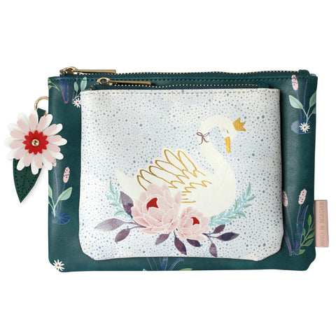 House of Disaster Secret Garden Swan Make Up Bag
